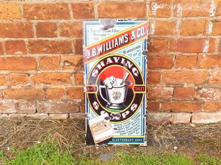 Shaving Soap j.b.williams -  Extra Large 2x1ft  Metal Wall Sign